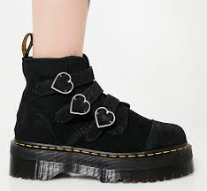 dr martens black buckle boots