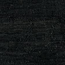 black leather rag rug white runner