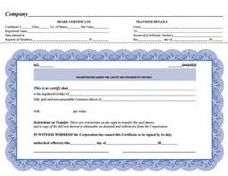 Template Share Certificate Share Certificates For Ontario