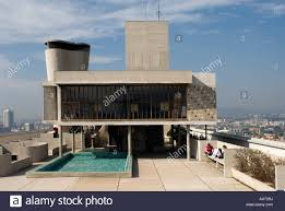 Marseille La Cite Radieuse Le Corbusier Architect Stock Photo