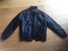boys faux leather jacket m s 9 10 years