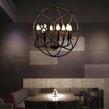 metal orb chandelier lamp globe cage ceiling pendant light round hanging fixture large world market