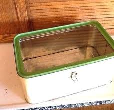 home improvement glass stainless steel bread box