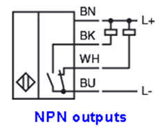 how to a sensor connection diagram npn outputs ultrasonic or photoelectric sensors