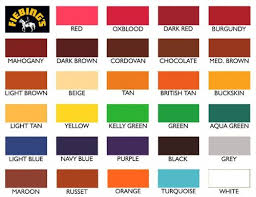 Fiebings Suede Dye Color Chart 73 Right Leather Dye Colors