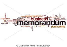 Memorandum Word Cloud Concept.