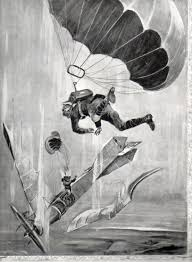 jf ptak science books history of falling parachutes as aerial parachute bomb454