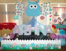 Owl Balloon Decorations Owl Theme Stage Decoration Using Styro At Choi City Cebu