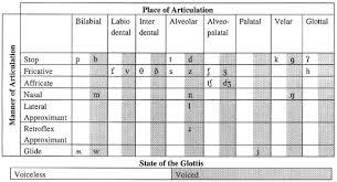 Articulatory Phonetics Chart Simplified English Only International Phonetic Alphabet