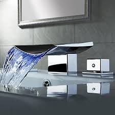 2019 whole superfaucet bathroom faucet waterfall led waterfall faucet sink faucet waterfall water tap led temperature controlled from linita