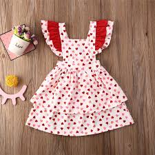 These valentine games are going to make your kids' valentine's day classroom party a whole lot of fun! Summer Valentine Day Toddler Kid Baby Girl Clothes Ruffle Heart Love Dress Party Sundress Clothing Dresses Aliexpress