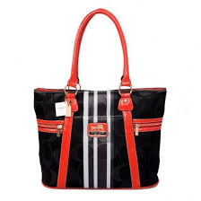 Coach Zip In Signature Medium Black Totes 20602