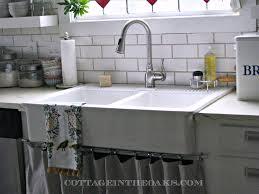 vintage kitchen ideas with farmhouse style double basin apron