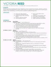 Resume Job Description Examples Server Job Description For Resume Magnificent Unfor Table