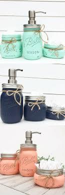 Mason Jar Bathroom Set, Rustic Bathroom, Farmhouse decor, Housewarming Gift,