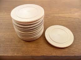 25 wood plates unfinished wood miniature 1 3 4 diameter