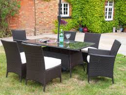 grey rattan garden dining sets. barcelona 1.5 metre rectangular grey rattan dining table 4 chairs and 2 carver set garden sets i