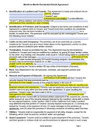 Free Printable Lease Agreement For Renting A House General Rent Lease Agreement Form Free California Month To Pdf Word