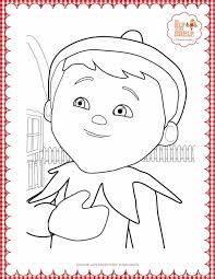 Elf On The Shelf Printable Coloring Pages Color Bros