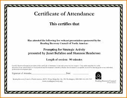 Sample Certification Letter Of Attendance Fresh Formal Outstanding