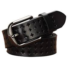 genuine leather belts for women hollow out design vonsely soft leather womens belts with pin