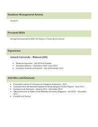 Cv Resume Format For Freshers Resume Template Example