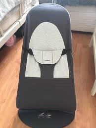 baby bjorn bouncer seat in grey and dark grey