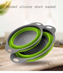 <b>Retractable Silicone</b> Dishwashing <b>Drain Basket</b> Four Colors ...