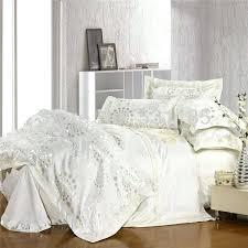 white bed sheets king jacquard white bedding set luxury duvet comforter cover king queen cotton silk