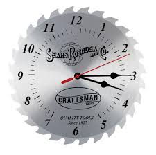 saw blade clock. craftsman 12 in. vintage clock shop | your way: online shopping \u0026 earn points on tools, appliances, electronics more saw blade