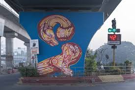 twin dragons art by amitabh kumar on wall art painters in chennai with 20 pieces of street art that turn chennai into incredibly beautiful