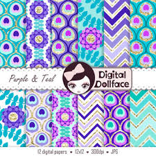feather patterns peacock digital paper purple and teal backgrounds peacock feather