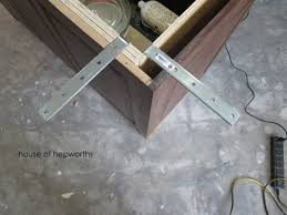 making of a kitchen island with supports for granite countertop overhang decorations 36