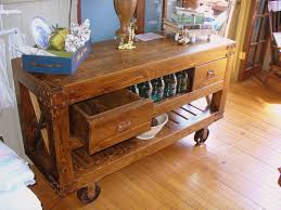 full size of portable movable kitchen island rusty rustic wood table wheels rolling carts storage drawer