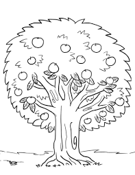 Apple Tree Coloring Page Apple Tree Coloring Sheet Apple Coloring