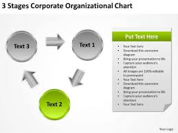 3 Stages Corporate Organizational Chart Executive Summary