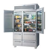 glass door refrigerator freezer combo front home