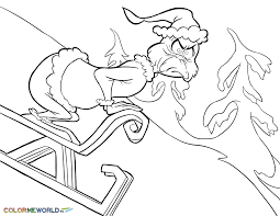 Grinch Coloring Pages Bestofcoloringcom