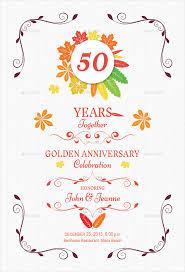 50th Anniversary Party Invitations 32 Anniversary Invitation Templates Psd Vector Eps Ai