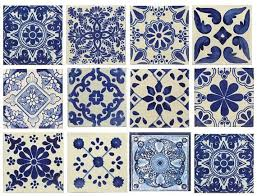 Blue And White Decorative Tiles Blue white mixed styles 100x100 MexicanSpanish Decorative Ceramic 1