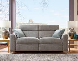 elaine 2 seater fabric recliner sofa