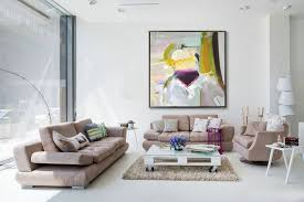 oversized palette knife painting contemporary art huge abstract canvas art yellow pink