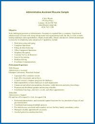 Find Different Administrative Job Resume Templates Word | Resume ...