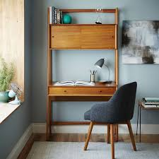 Home office wall desk Double West Elm Midcentury Wall Desk West Elm