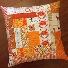 Quilted Cushions - Sew Delicious & quilted orange cushion Adamdwight.com