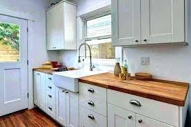butcher block countertops white cabinets butchers block dark