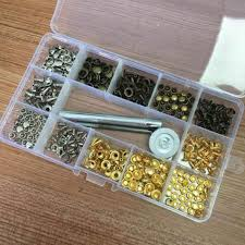 details about 180 leather rivets double cap rivet tubular metal studs with fixing tool set us