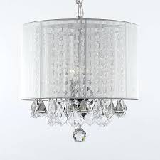 gallery chandelier white 3 chandeliers with shades crystal 67