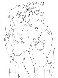 Wild kratts coloring pages chris and martin - ColoringStar