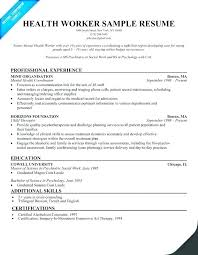 Example Of Social Work Resumes Social Worker Resume Example Emelcotest Com